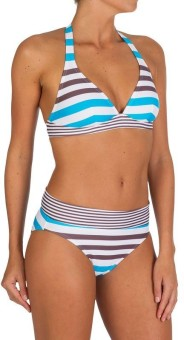 Tribord Mahe-Halterneck-Fitted-Bikini Striped Women's
