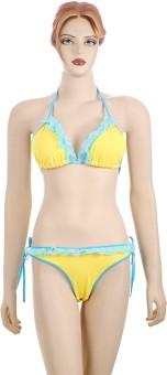 AayanBaby Lace Triangle Bikini Solid Women's