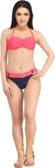N-Gal Cross Wrap Bandeau Bikini Top Solid Women's