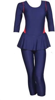 Champ Frock With 3/4 Sleeves/Slacks With Pads Solid Women's