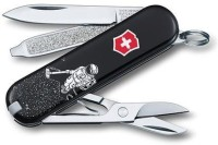Victorinox Classic Space Cleaner 7 Tool Multi-utility  Swiss Knife (Black)