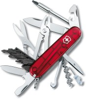 Victorinox 1.7725.T Cyber Tool 32 Function Multi Utility Swiss Knife (Transparent Red)