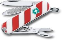 Victorinox Classic Lolipop 7 Tool Multi-utility  Swiss Knife White