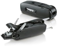 Tuzech 10-In-1 Office Combo Desktop Accessory / Travel Kit - Stapler Scissors 10 Function Multi Utility Swiss Knife (Black)