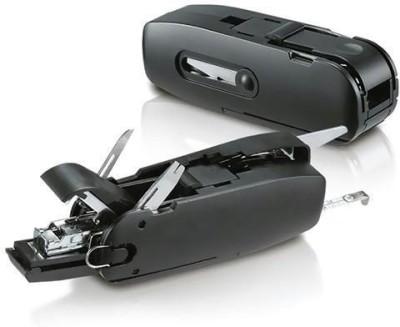 Tuzech 10-In-1 Office Combo Desktop Accessory / Travel Kit - Stapler Scissors 10 Function Multi Utility Swiss Knife (Black)