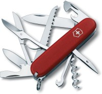 Victorinox Huntsman Matt Finish 15 Tool Multi-utility  Swiss Knife (Red)
