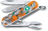 Victorinox 0.6223.L1501 7 Function Multi Utility Swiss Knife (Orange)