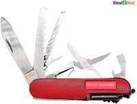 Stealodeal Grand Harvest 11 Function Multi Utility Swiss Knife (Red, Black, Blue)