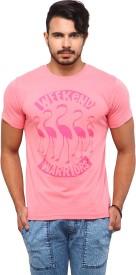 Yepme Graphic Print Men's Round Neck Pink T-Shirt