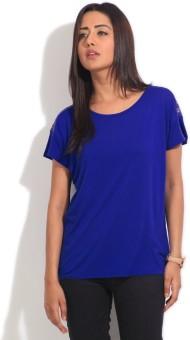 Van Heusen Solid Women's Round Neck T-Shirt
