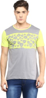 Yepme Graphic Print Men's Scoop Neck Grey T-Shirt
