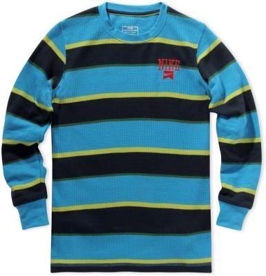 Nike Kids Striped Boy's Round Neck T-Shirt