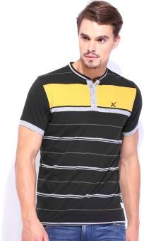 HRX By Hrithik Roshan Striped Men's Henley T-Shirt