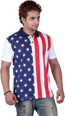 Vivid Bharti Printed Men's Peter Pan Collar T-Shirt