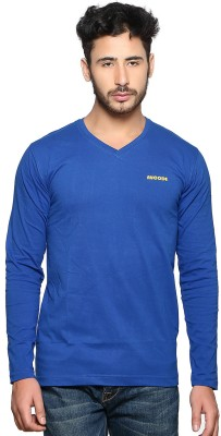 Nucode Solid Men's V-neck T-Shirt