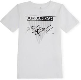 Jordan Kids Graphic Print Boy's Round Neck White T-Shirt