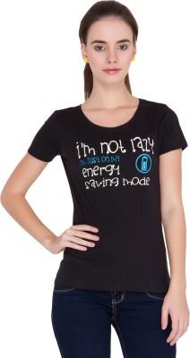 Alibi By INMARK Printed Women's Round Neck T-Shirt