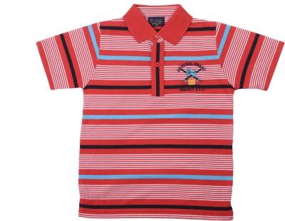 Boyzone Striped Boy's Polo Neck T-Shirt
