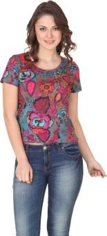 Flur Geogeous Garden Top Printed Women's Round Neck T-Shirt