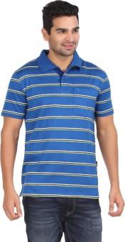 Moonwalker Striped Men's Polo Neck T-Shirt