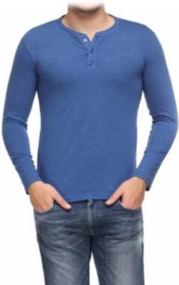 TrueWay Solid Men's Henley T-Shirt