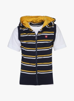 612 League Striped Boy's Hooded T-Shirt
