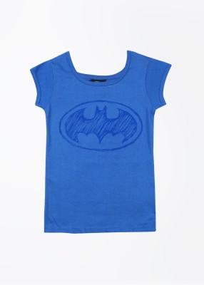 Batman Batman Printed Girl's Round Neck T-Shirt