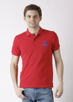 Compare United Colors of Benetton Polo Solid Men T-shirt: T-Shirt at Compare Hatke