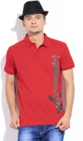 Style Quotient By Noi Printed Men's Polo Neck T-Shirt