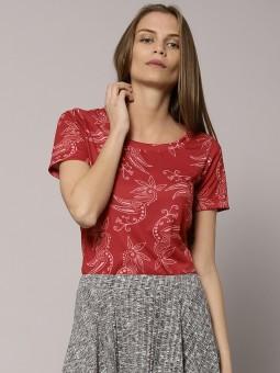 Marks & Spencer Printed Women's Round Neck T-Shirt