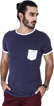Mr Button Printed Men's Round Neck T-Shirt