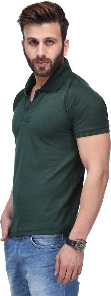 TSX Solid Men's Polo Neck Light Blue, Green T-Shirt