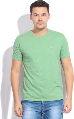 Bossini Bossini Solid Men's Round Neck T-Shirt (Green)