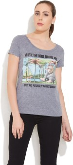Out Of Print Printed Women's Round Neck T-Shirt - TSHE9H5CFUYN69ZU