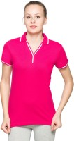 Max Solid Women's Polo Neck T-Shirt