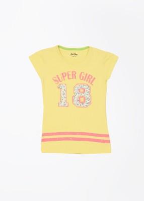 Gini & Jony Printed Girl's Round Neck T-Shirt