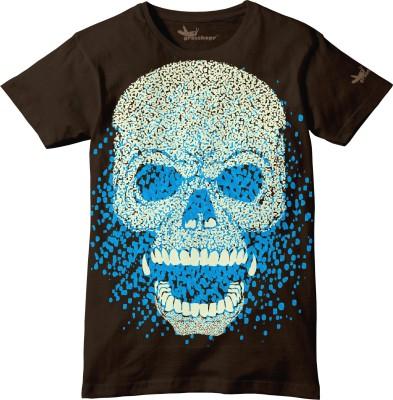 Grasshopr Graphic Print Boy's Round Neck T-Shirt