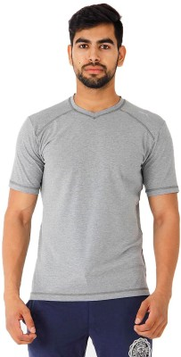 Puma Solid Men's V-neck T-Shirt
