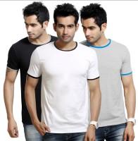 Design Classics Solid Men's Round Neck T-Shirt - Pack Of 3