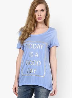 Vero Moda Graphic Print Women's Round Neck T-Shirt - TSHEFE4RSPASN7UW