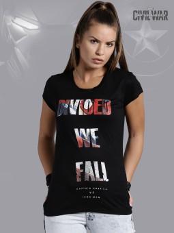 Kook N Keech Marvel Graphic Print Women's Round Neck T-Shirt - TSHEGFJFYCPFDDSN