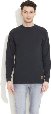 Skechers Solid Men,s Round Neck T-Shirt