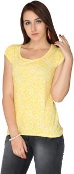 Max Floral Print Women's Round Neck T-Shirt