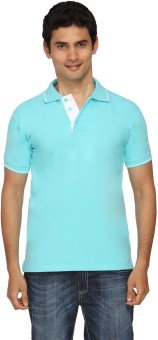 Scottish Solid Men's Polo Light Blue, White T-Shirt