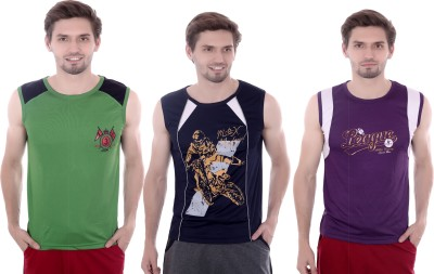 French Twins Solid Men's Round Neck T-Shirt