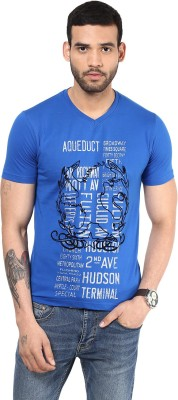 Richlook Printed Men's V-neck Reversible T-Shirt