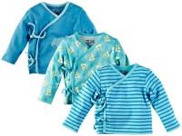Mom & Me Printed Baby Girl's V-neck Blue T-Shirt (Pack Of 3)