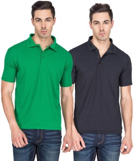 TerraVulc Solid Men's Polo Neck T-Shirt Pack Of 2 - TSHEAD3HKGCBZGVQ