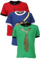 Gkidz Printed Boy's Round Neck T-Shirt - Pack Of 3 - TSHDZNG3HTECZCAW