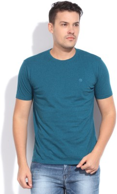 Bossini Bossini Solid Men's Round Neck T-Shirt (Cyan)